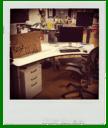 The desk for Production Assistant. Kinda.