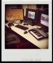The desk for Voice Over Designer x2. Kinda.